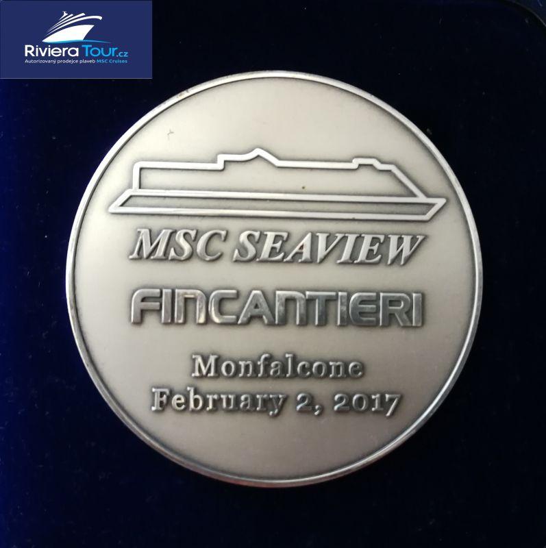 Pamětní mince z Mincovní slavnosti MSC Seaview