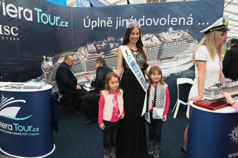 MISS PRINCESS CZECH 2018 na stánku RIVIERA TOUR